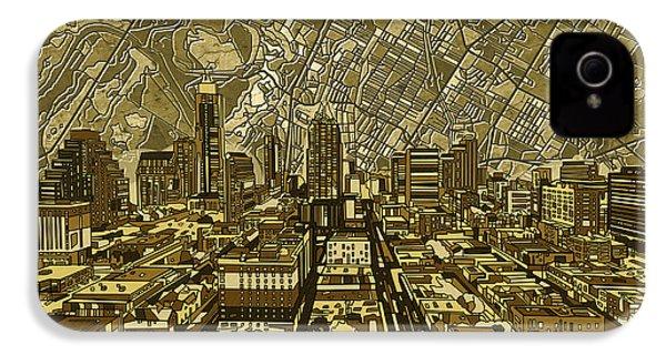 Austin Texas Vintage Panorama IPhone 4 Case