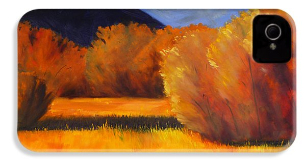 Autumn Field IPhone 4 Case by Nancy Merkle