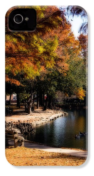 Autumn On Theta IPhone 4 Case by Lana Trussell