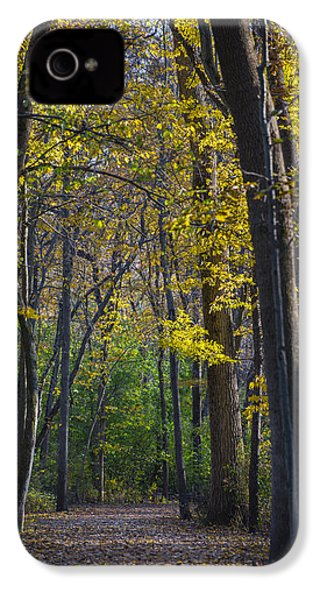 IPhone 4 Case featuring the photograph Autumn Trees Alley by Sebastian Musial