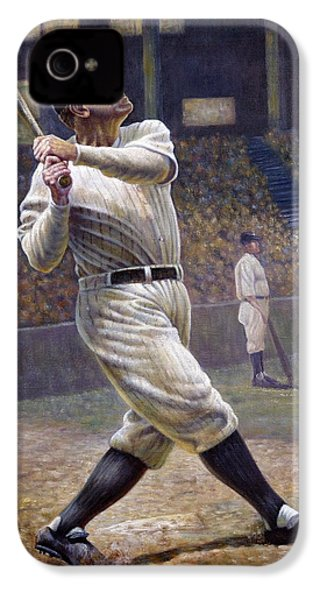 Babe Ruth IPhone 4 Case by Gregory Perillo