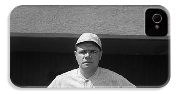 Babe Ruth In Red Sox Uniform IPhone 4 / 4s Case by Underwood Archives