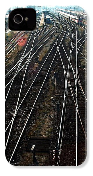 IPhone 4 Case featuring the photograph Bahnhof Cottbus by Marc Philippe Joly