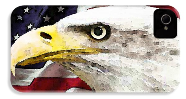 Bald Eagle Art - Old Glory - American Flag IPhone 4 / 4s Case by Sharon Cummings