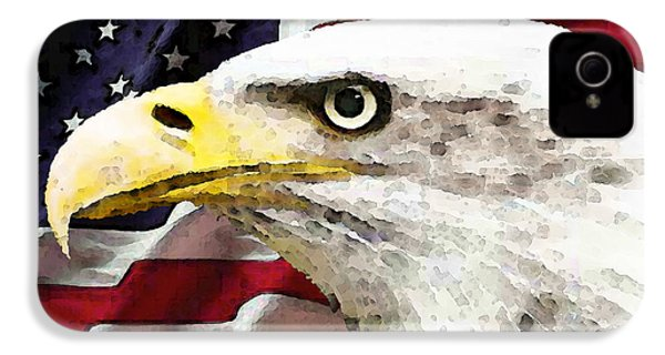 Bald Eagle Art - Old Glory - American Flag IPhone 4 Case by Sharon Cummings