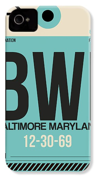Baltimore Airport Poster 1 IPhone 4 Case