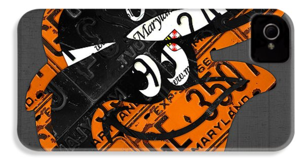 Baltimore Orioles Vintage Baseball Logo License Plate Art IPhone 4 / 4s Case by Design Turnpike