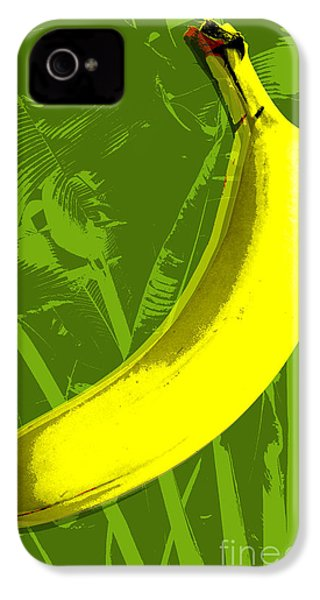 Banana Pop Art IPhone 4 / 4s Case by Jean luc Comperat