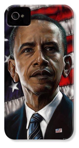 Barack Obama IPhone 4 Case by Andre Koekemoer