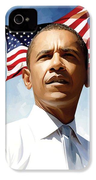 Barack Obama Artwork 1 IPhone 4 Case by Sheraz A