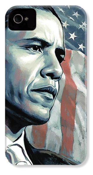 Barack Obama Artwork 2 B IPhone 4 Case by Sheraz A