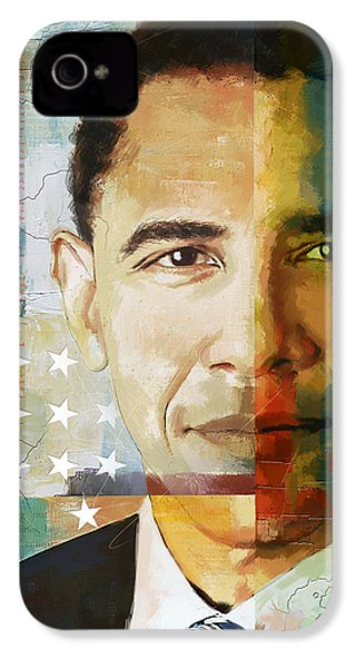 Barack Obama IPhone 4 / 4s Case by Corporate Art Task Force