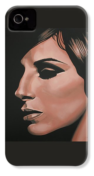 Barbra Streisand IPhone 4 Case by Paul Meijering