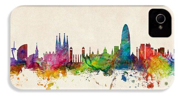 Barcelona Spain Skyline IPhone 4 Case by Michael Tompsett