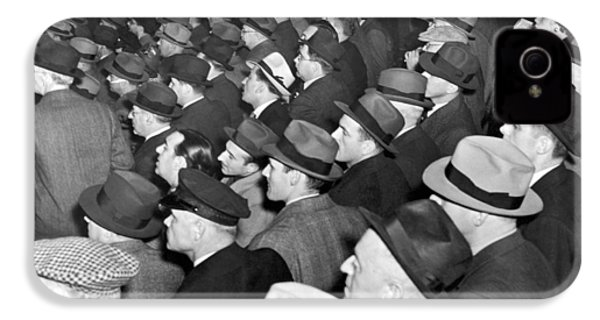 Baseball Fans At Yankee Stadium For The Third Game Of The World IPhone 4 Case by Underwood Archives