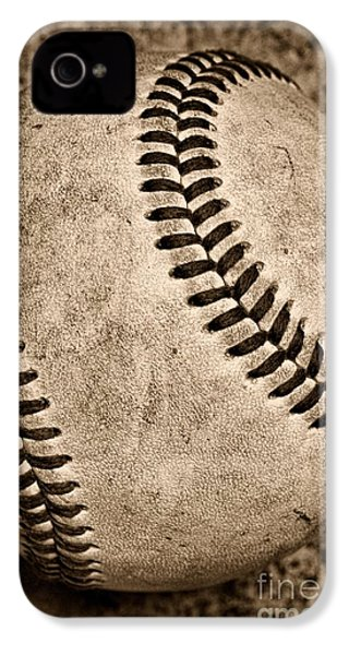 Baseball Old And Worn IPhone 4 Case by Paul Ward