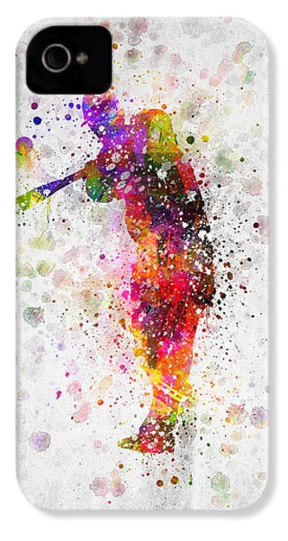 Baseball Player - Taking A Swing IPhone 4 Case by Aged Pixel
