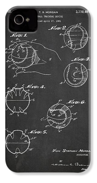 Baseball Training Device Patent Drawing From 1961 IPhone 4 Case by Aged Pixel