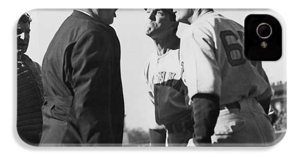 Baseball Umpire Dispute IPhone 4 Case by Underwood Archives