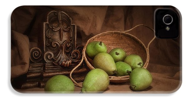 Basket Of Pears Still Life IPhone 4 Case by Tom Mc Nemar