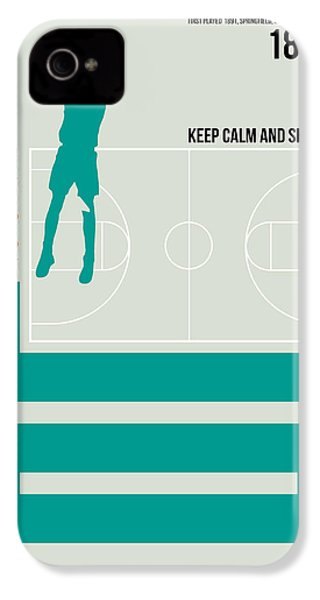 Basketball Poster IPhone 4 Case by Naxart Studio