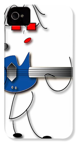 IPhone 4 Case featuring the digital art Bass Guitar Girl by Marvin Blaine