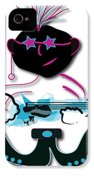 IPhone 4 Case featuring the digital art Bass Man by Marvin Blaine