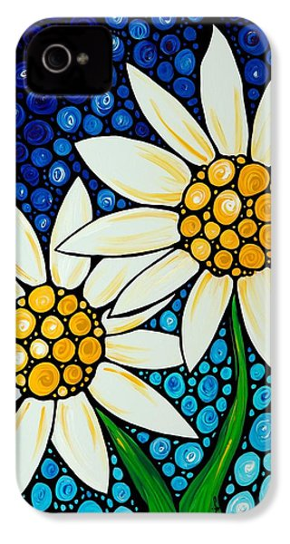 Bathing Beauties - Daisy Art By Sharon Cummings IPhone 4 / 4s Case by Sharon Cummings
