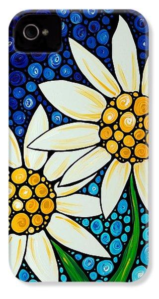 Bathing Beauties - Daisy Art By Sharon Cummings IPhone 4 Case