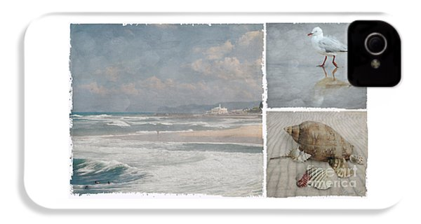 Beach Triptych 1 IPhone 4 Case by Linda Lees