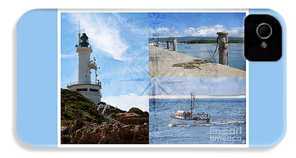 Beach Triptych 2 IPhone 4 Case by Linda Lees