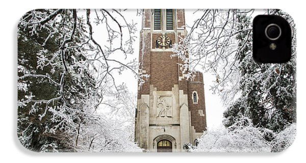 Beaumont Tower Ice Storm  IPhone 4 Case by John McGraw
