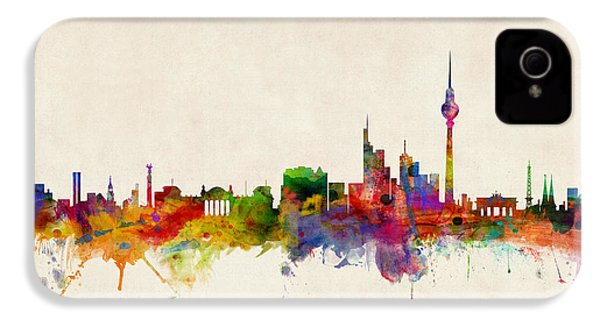 Berlin City Skyline IPhone 4 Case by Michael Tompsett