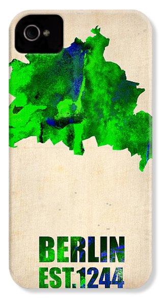 Berlin Watercolor Map IPhone 4 / 4s Case by Naxart Studio