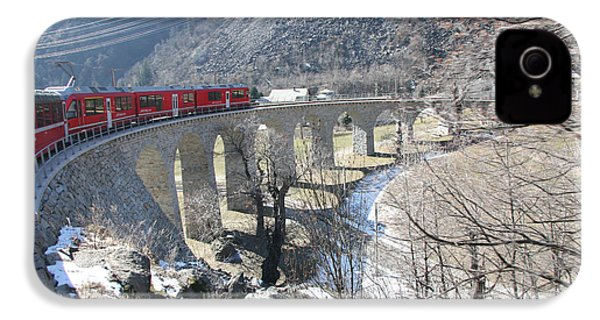 IPhone 4 / 4s Case featuring the photograph Bernina Express In Winter by Travel Pics