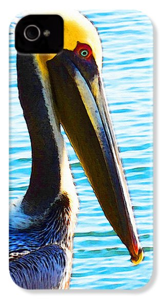 Big Bill - Pelican Art By Sharon Cummings IPhone 4 Case by Sharon Cummings