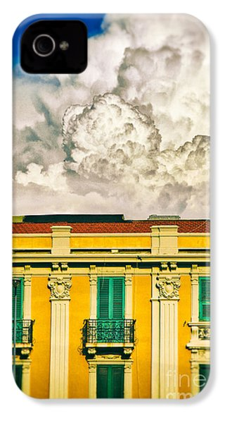 IPhone 4 Case featuring the photograph Big Cloud Over City Building by Silvia Ganora