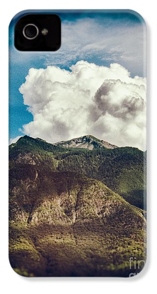 Big Clouds Over The Alps IPhone 4 Case by Silvia Ganora