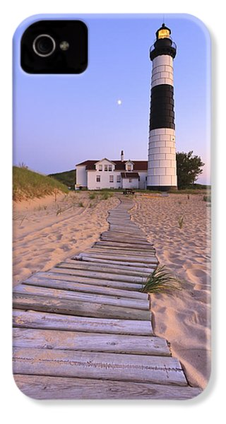 Big Sable Point Lighthouse IPhone 4 Case by Adam Romanowicz