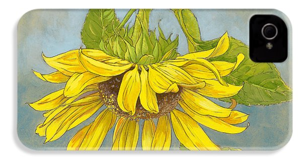 Big Sunflower IPhone 4 / 4s Case by Tracie Thompson