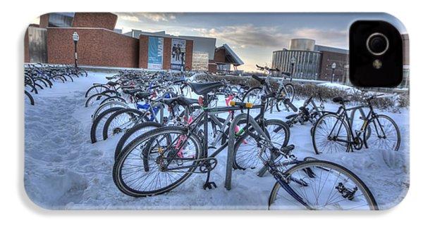 Bikes At University Of Minnesota  IPhone 4 Case by Amanda Stadther