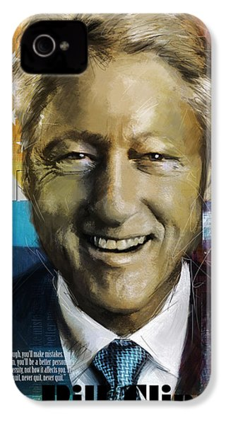 Bill Clinton IPhone 4 / 4s Case by Corporate Art Task Force