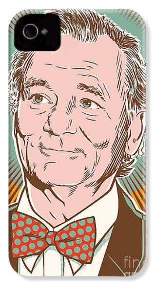 Bill Murray Pop Art IPhone 4 / 4s Case by Jim Zahniser