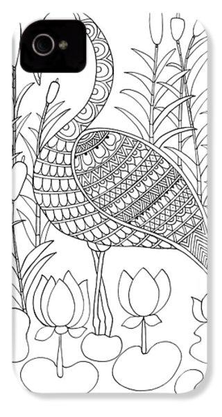 Bird Flamingo IPhone 4 Case by Neeti Goswami