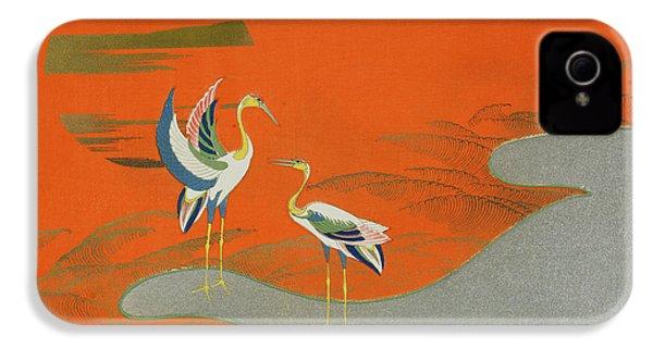 Birds At Sunset On The Lake IPhone 4 Case by Kamisaka Sekka