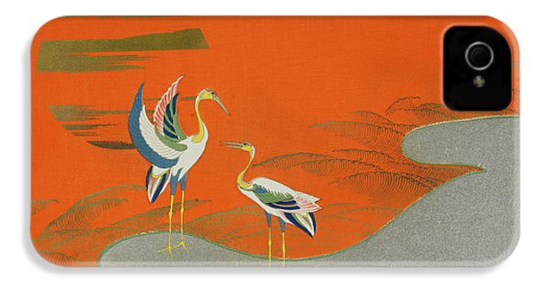 Birds At Sunset On The Lake IPhone 4 / 4s Case by Kamisaka Sekka