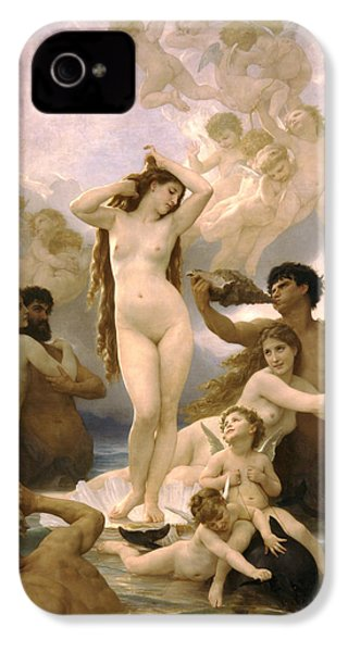 Birth Of Venus IPhone 4 Case by William Bouguereau