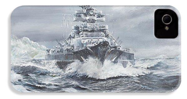 Bismarck Off Greenland Coast  IPhone 4 Case by Vincent Alexander Booth