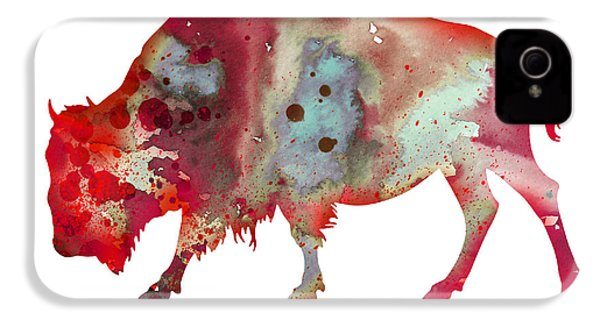 Bison IPhone 4 Case by Watercolor Girl