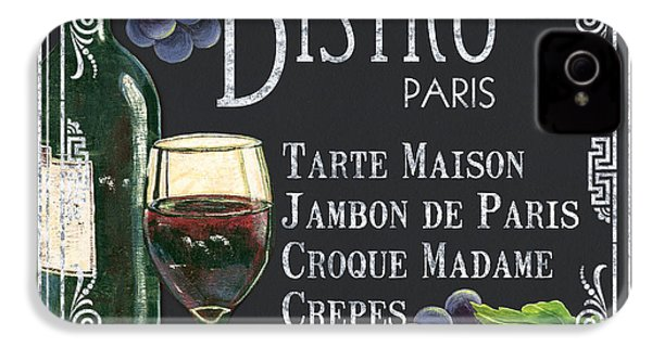 Bistro Paris IPhone 4 Case by Debbie DeWitt